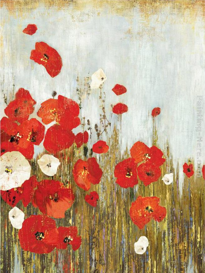 Asia Jensen Poppies in the Wind Art Painting