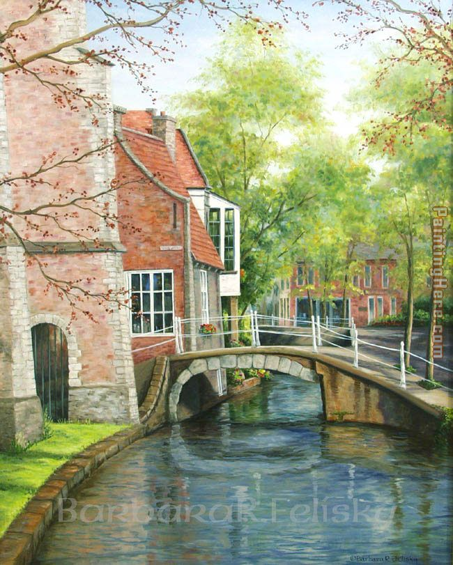 Barbara Felisky Delft Canal Bridge Art Painting