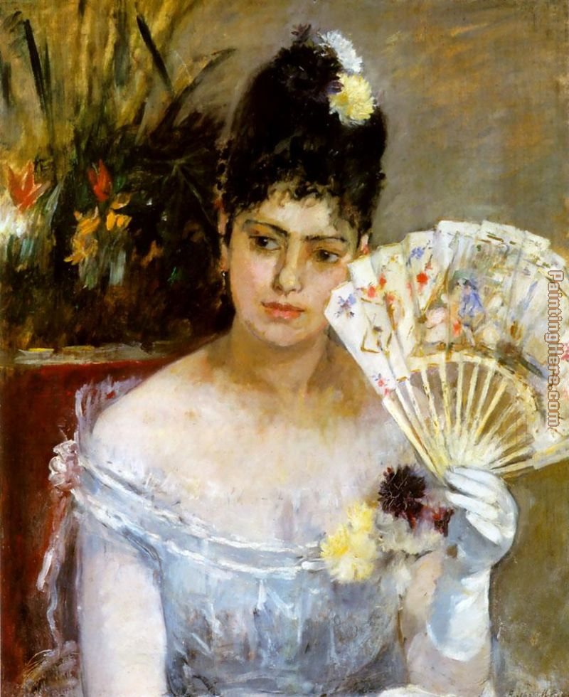 At the Ball painting - Berthe Morisot At the Ball art painting