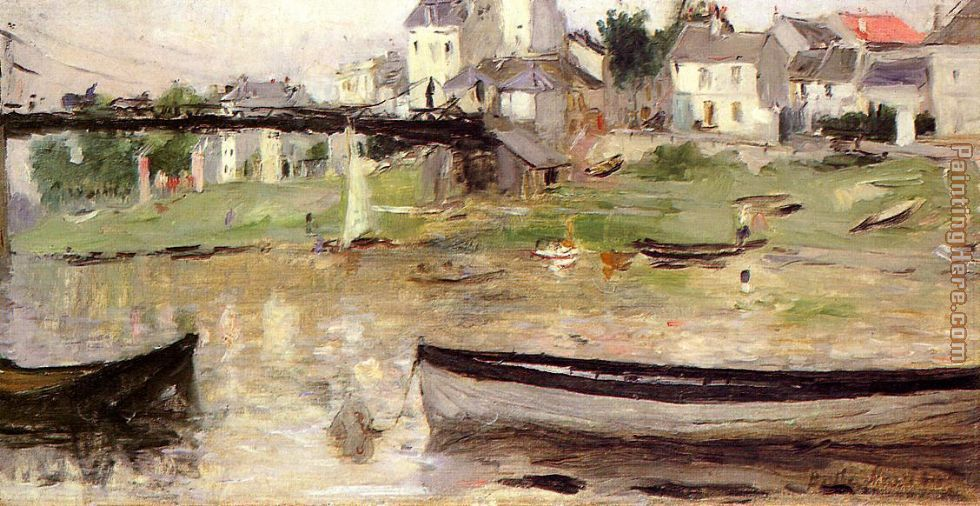Boats on the Seine painting - Berthe Morisot Boats on the Seine art painting
