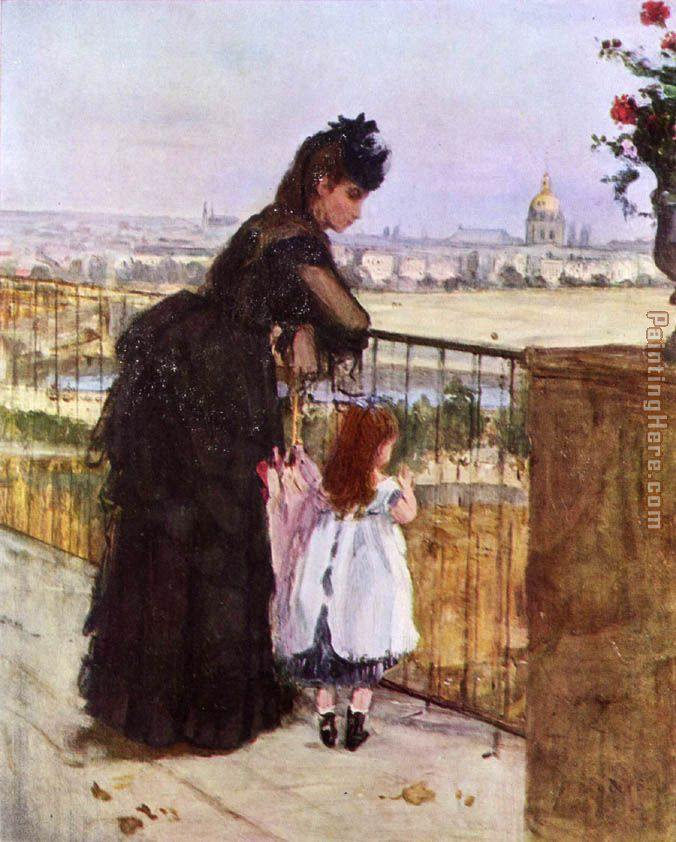 Berthe Morisot On the Balcony Art Painting
