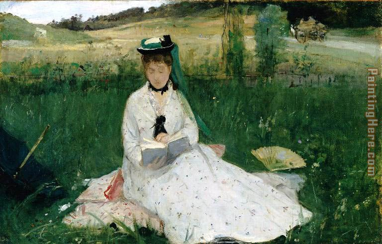 Reading painting - Berthe Morisot Reading art painting