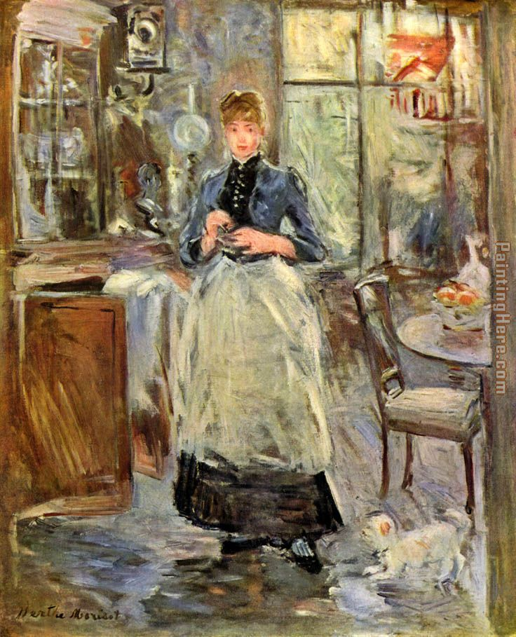 Berthe morisot the dining room art painting for sale for Dining room paintings