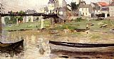 Boats on the Seine by Berthe Morisot
