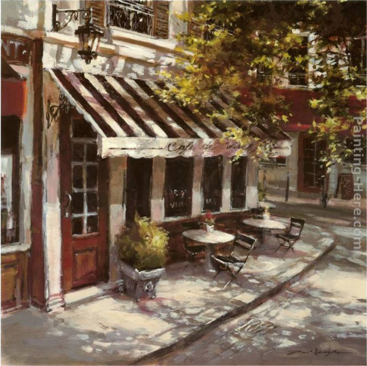 Wine Cafe painting - Brent Heighton Wine Cafe art painting