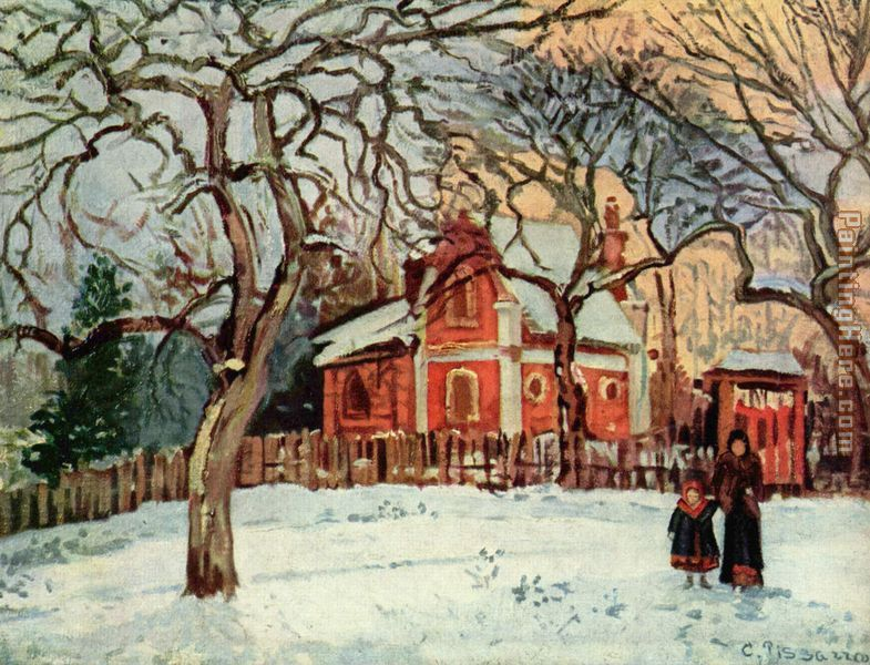 Chataigniers Louveciennes painting - Camille Pissarro Chataigniers Louveciennes art painting