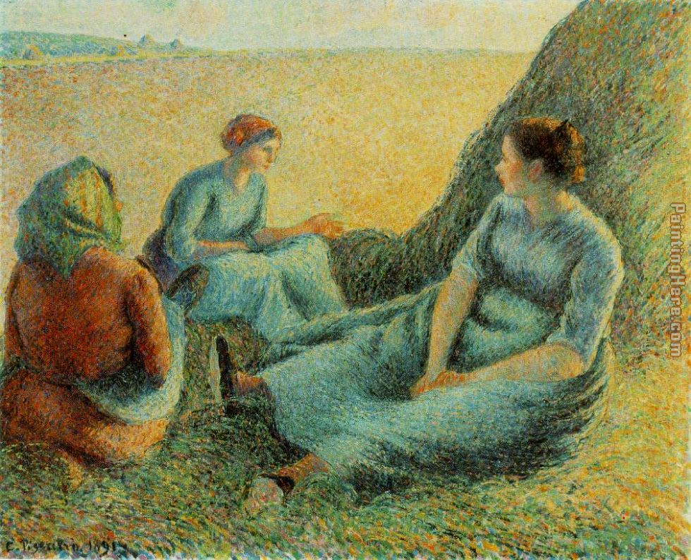 Haymakers Resting painting - Camille Pissarro Haymakers Resting art painting