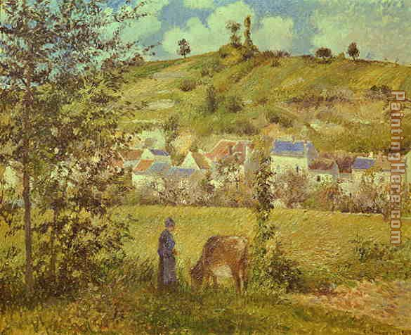 Landscape at Chaponval painting - Camille Pissarro Landscape at Chaponval art painting