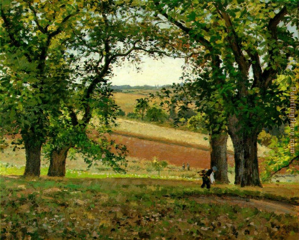 The Chestnut Trees at Osny painting - Camille Pissarro The Chestnut Trees at Osny art painting