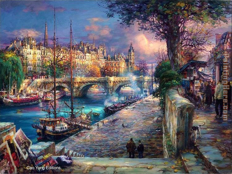 Cao Yong Bank of La Seine Art Painting