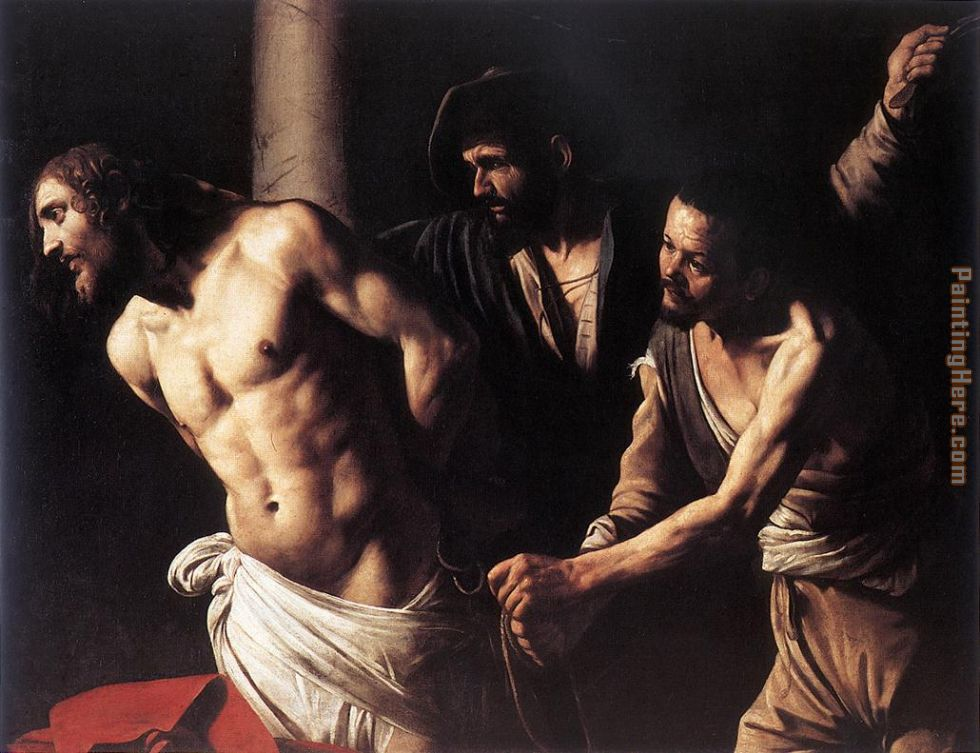 Christ at the Column painting - Caravaggio Christ at the Column art painting