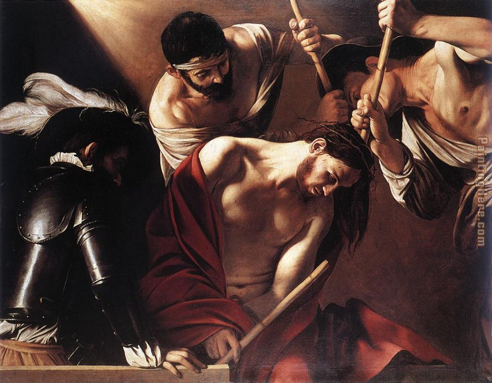 Caravaggio The Crowning with Thorns Art Painting