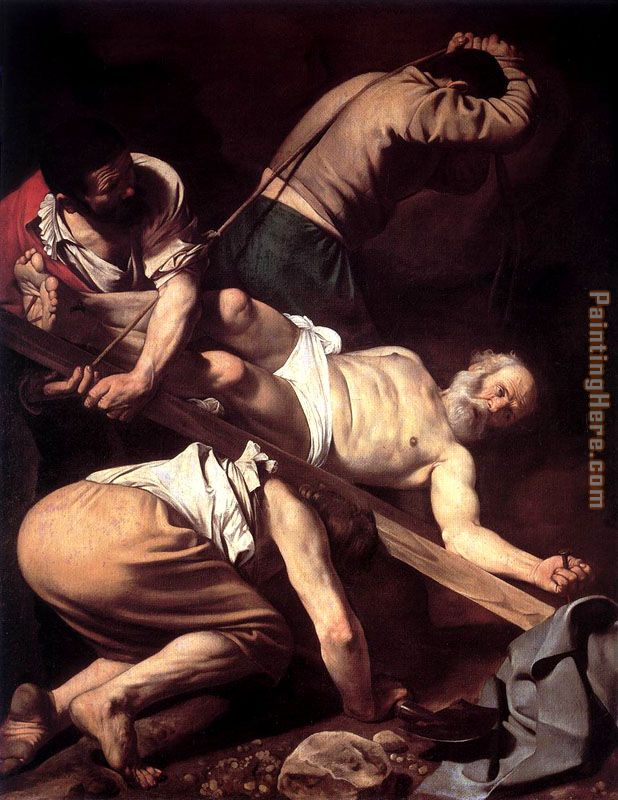 Caravaggio The Crucifixion of Saint Peter Art Painting