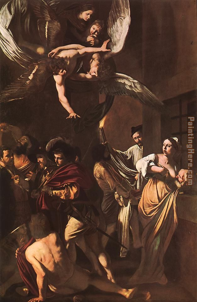 The Seven Acts of Mercy painting - Caravaggio The Seven Acts of Mercy art painting