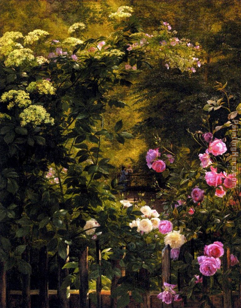 The Rose Garden painting - Carl Fredrik Aagard The Rose Garden art painting