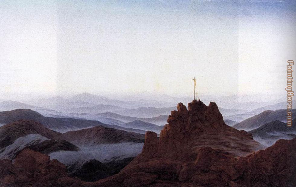 Morning in the Riesengebirge painting - Caspar David Friedrich Morning in the Riesengebirge art painting