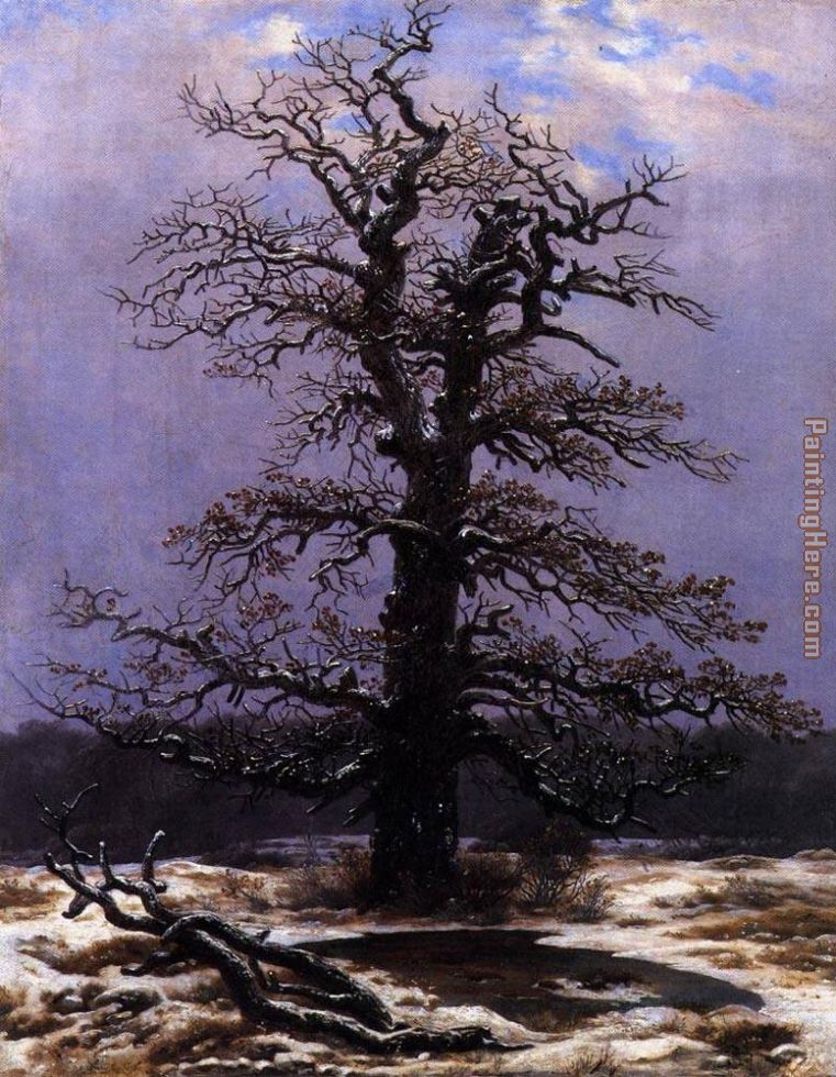 Oak in the Snow painting - Caspar David Friedrich Oak in the Snow art painting