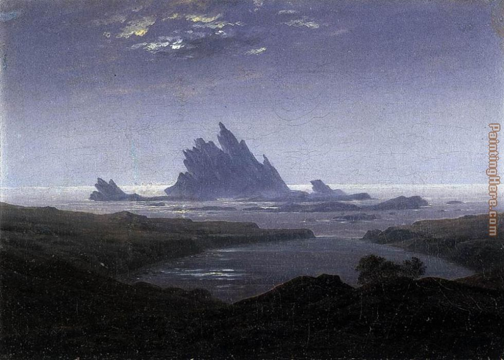 Rocky Reef on the Sea Shore painting - Caspar David Friedrich Rocky Reef on the Sea Shore art painting