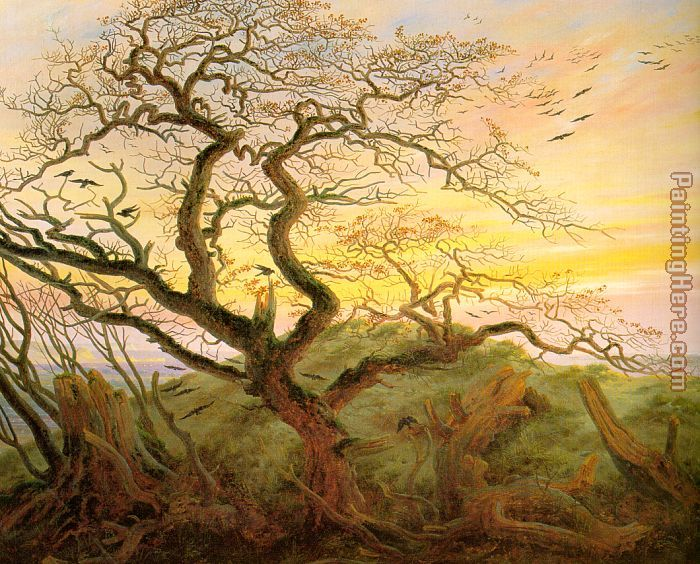 The Tree of Crows painting - Caspar David Friedrich The Tree of Crows art painting