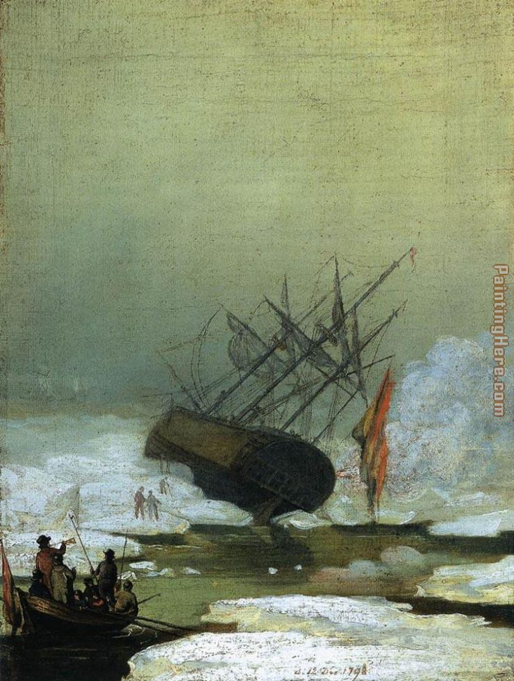 Wreck in the Sea of Ice painting - Caspar David Friedrich Wreck in the Sea of Ice art painting