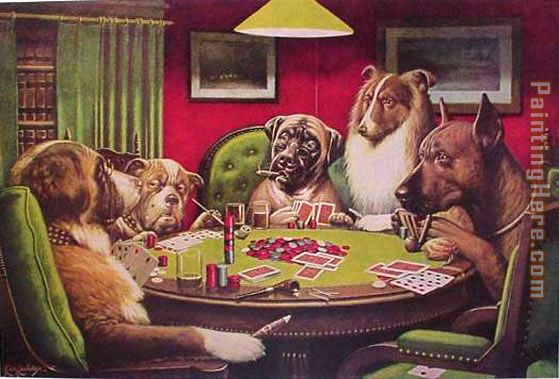 Dogs Playing Poker painting - Cassius Marcellus Coolidge Dogs Playing Poker art painting