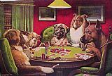 Dogs Playing Poker by Cassius Marcellus Coolidge