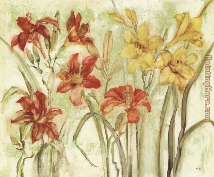 Day Lily Garden painting - Cheri Blum Day Lily Garden art painting