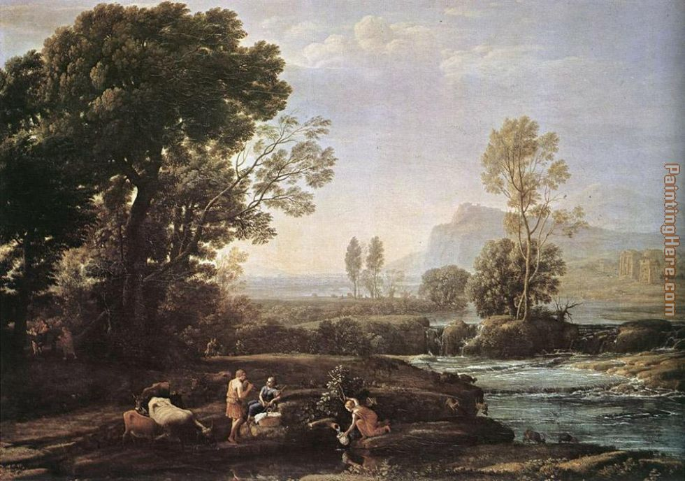 Landscape with Rest in Flight to Egypt painting - Claude Lorrain Landscape with Rest in Flight to Egypt art painting