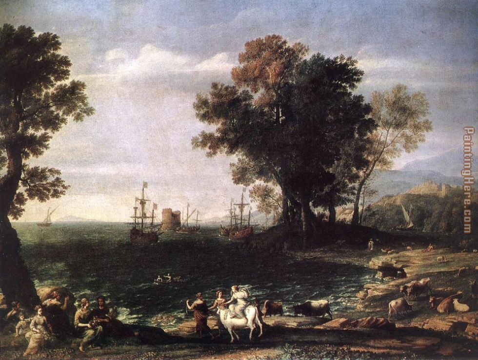 Claude Lorrain The Rape of Europa Art Painting