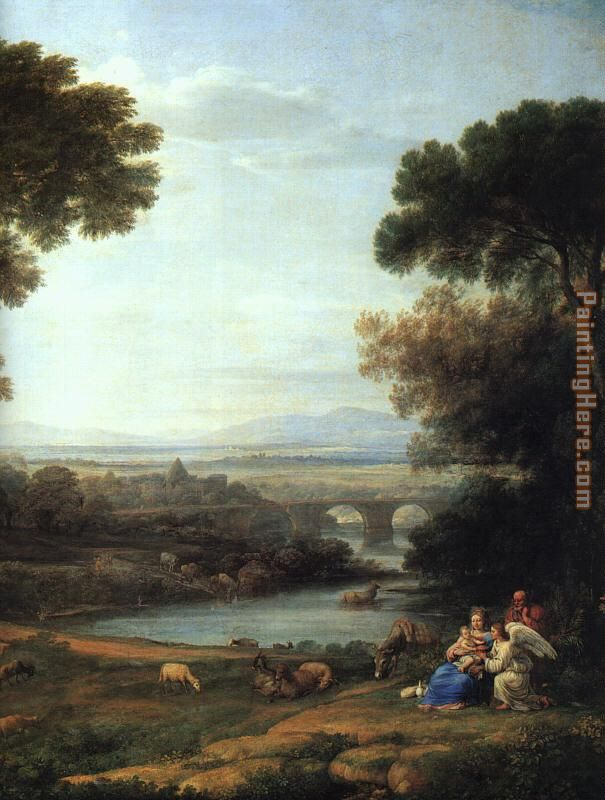 The Rest on the Flight into Egypt painting - Claude Lorrain The Rest on the Flight into Egypt art painting