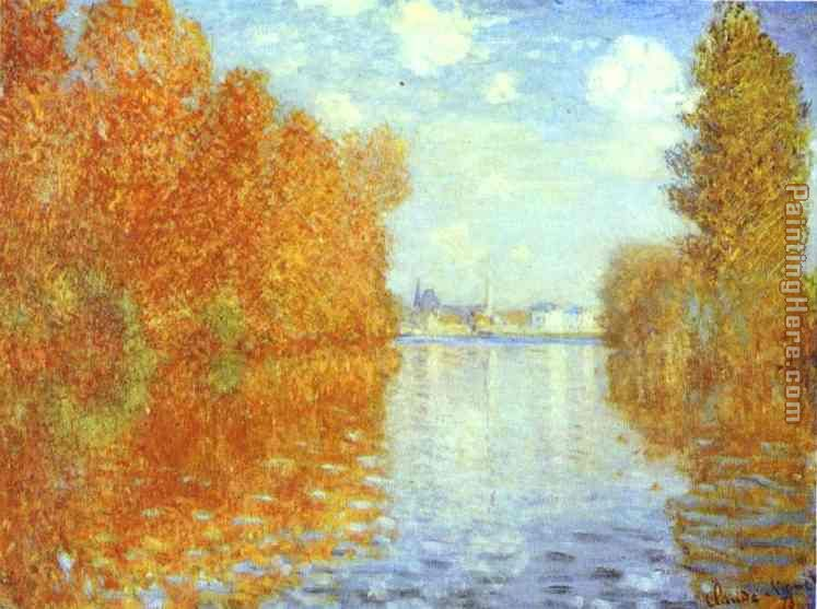 Claude Monet Autumn at Argenteuil Art Painting