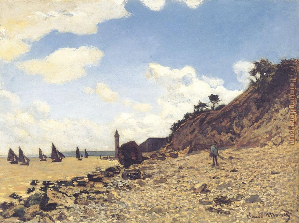 Beach at Honlfeux painting - Claude Monet Beach at Honlfeux art painting