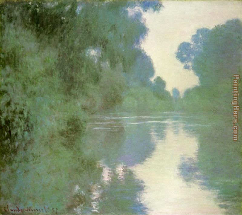 Branch of the Seine near Giverny painting - Claude Monet Branch of the Seine near Giverny art painting