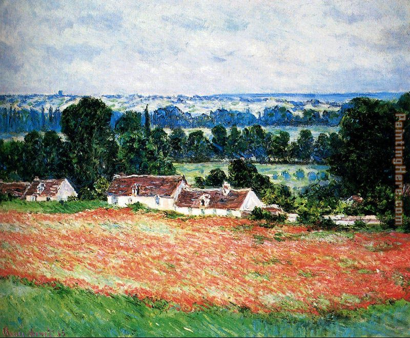 Field Of Poppies, Giverny painting - Claude Monet Field Of Poppies, Giverny art painting