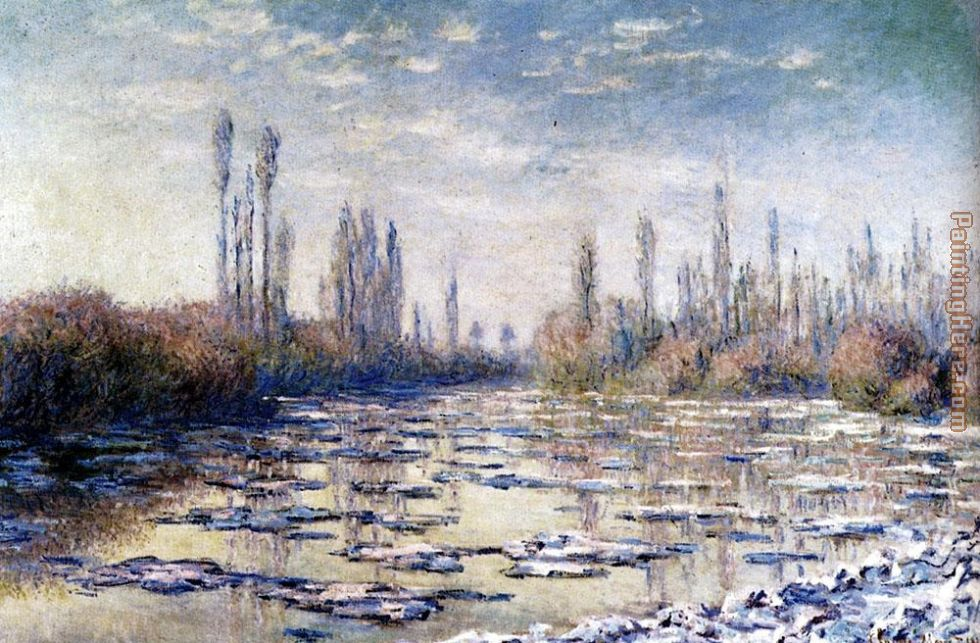 Floating Ice Near Vetheuil painting - Claude Monet Floating Ice Near Vetheuil art painting