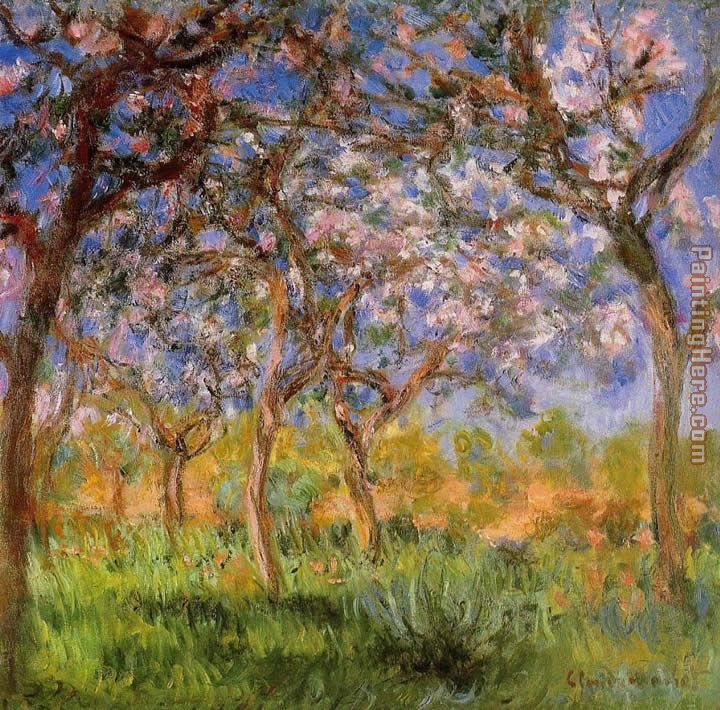 Giverny in Springtime painting - Claude Monet Giverny in Springtime art painting