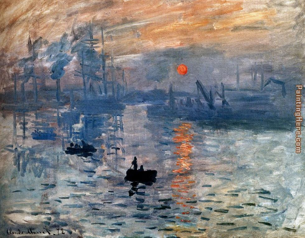 Impression Sunrise painting - Claude Monet Impression Sunrise art painting
