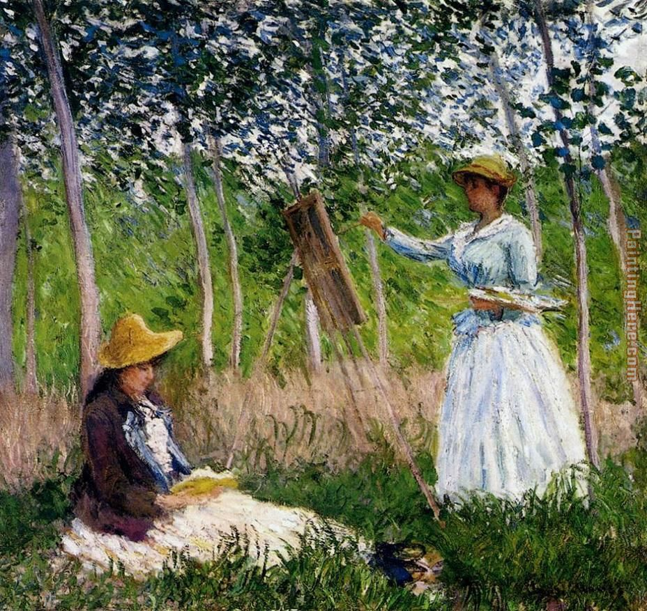 In The Woods At Giverny painting - Claude Monet In The Woods At Giverny art painting