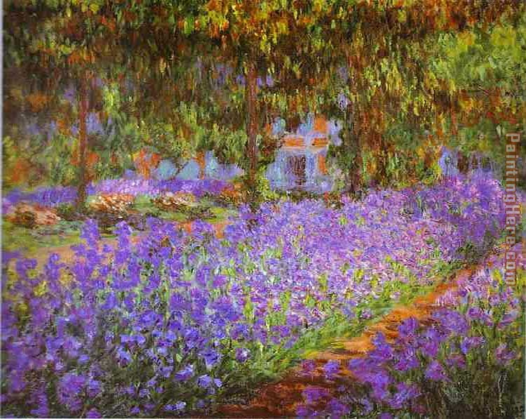 Claude Monet Irises in Monet's Garden Art Painting