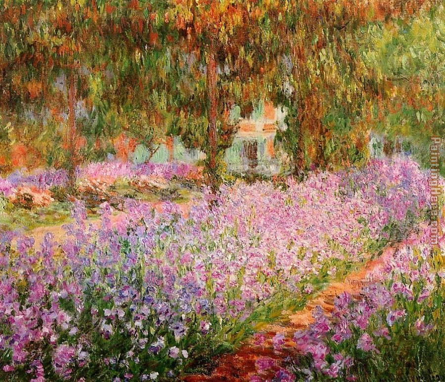 Claude Monet Irises in Monets Garden Art Painting