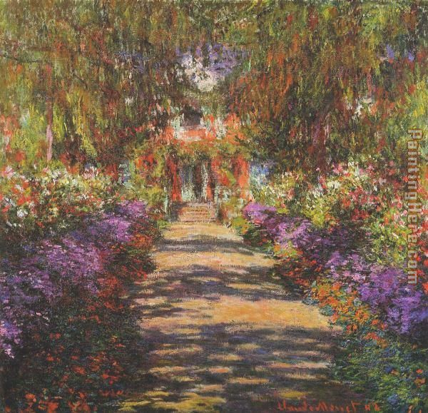 Main Path through the Garden at Giverny painting - Claude Monet Main Path through the Garden at Giverny art painting
