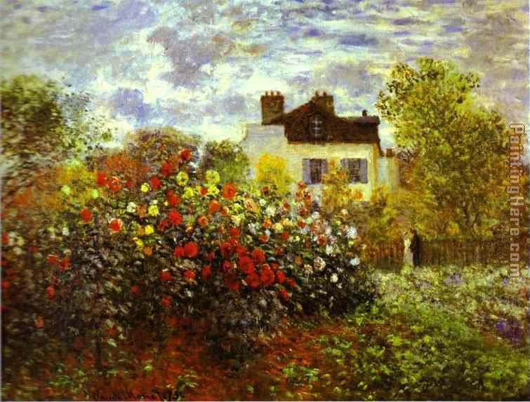 Monet's Garden at argenteuil painting - Claude Monet Monet's Garden at argenteuil art painting