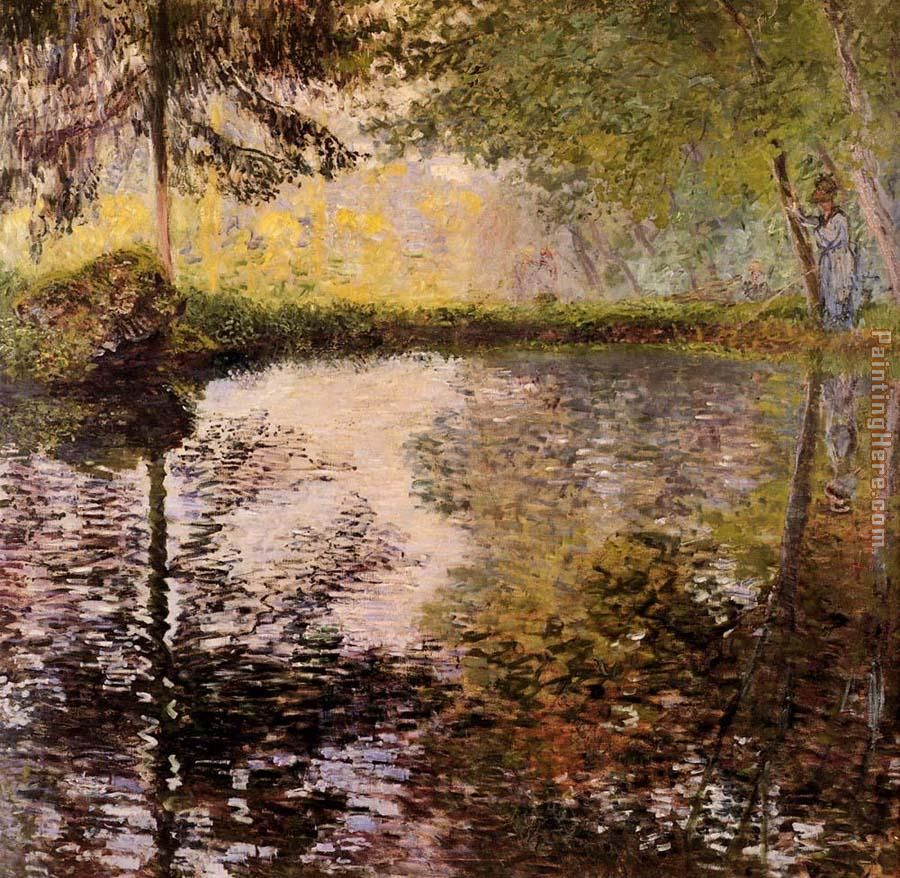 Pond at Montgeron painting - Claude Monet Pond at Montgeron art painting