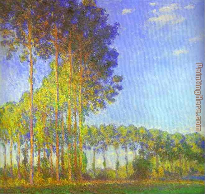 Claude Monet Poplars on the Banks of the Epte Art Painting