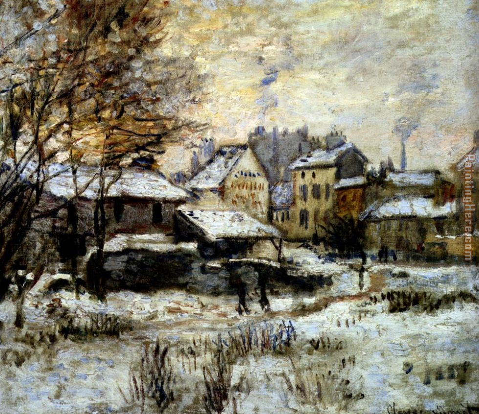 Snow Effect With Setting Sun painting - Claude Monet Snow Effect With Setting Sun art painting