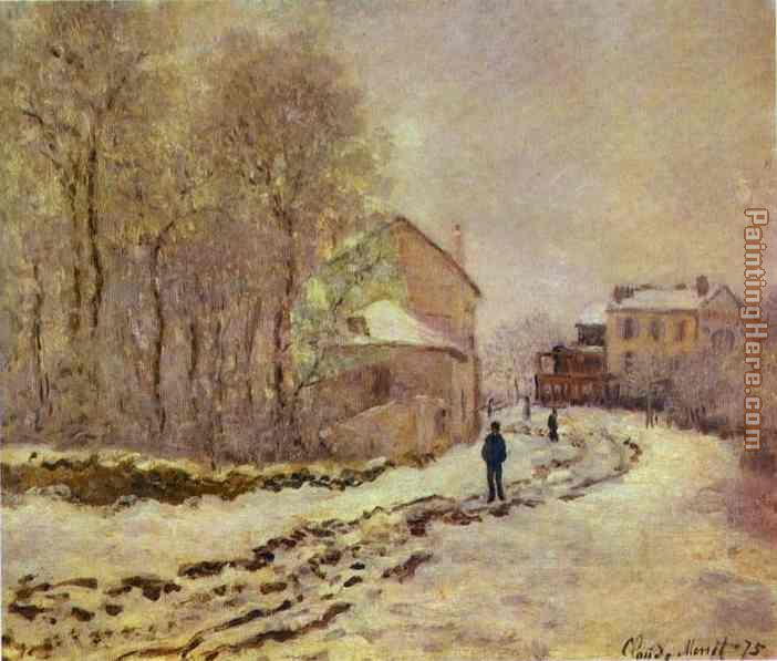 Snow at Argenteuil painting - Claude Monet Snow at Argenteuil art painting