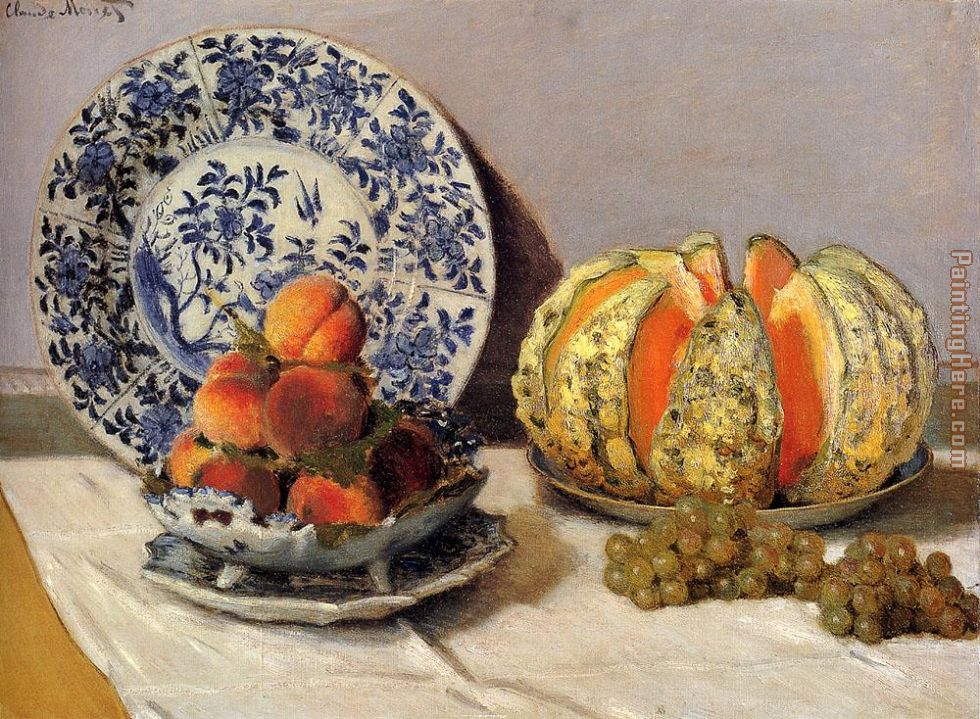 Still Life With Melon painting - Claude Monet Still Life With Melon art painting