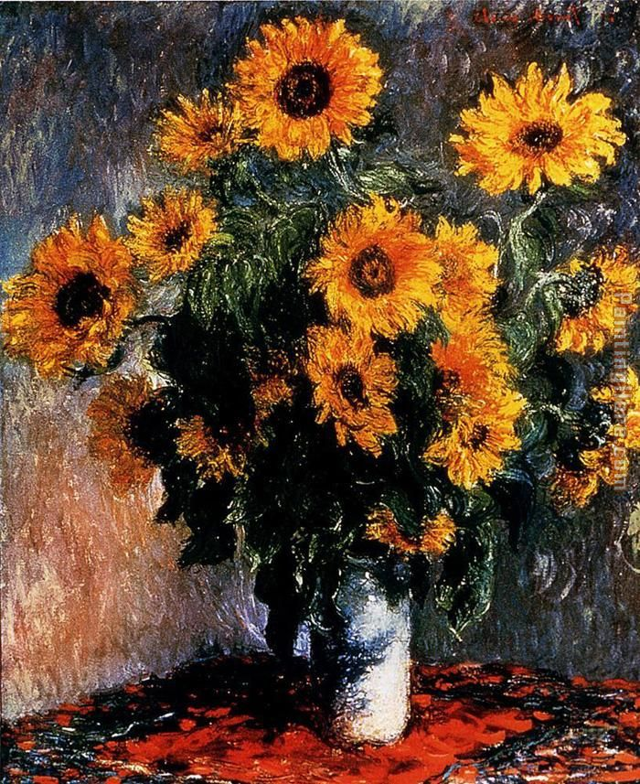 Sunflowers painting - Claude Monet Sunflowers art painting