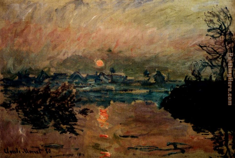 Claude Monet Sunset Art Painting
