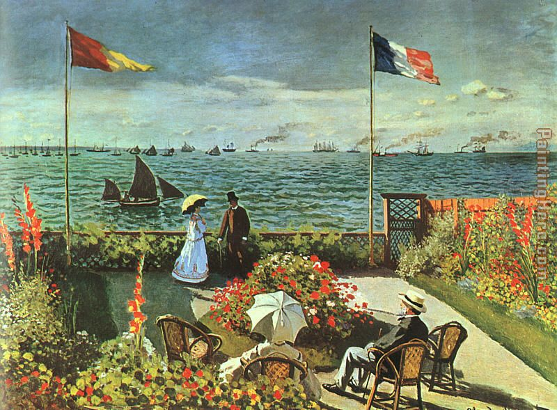 Terrace at St Adresse painting - Claude Monet Terrace at St Adresse art painting